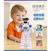 机械战警智能遥控机器人玩具早教益智感应跳舞