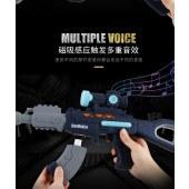 百变磁力拼装枪儿童玩具枪电动声光