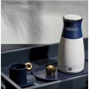 摩飞电器(Morphyrichards)电水壶小型便携式烧水壶旅行电热水壶不锈钢双层防烫
