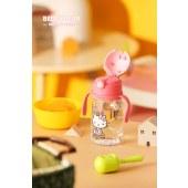 新易达文具-韩国杯具熊2020年新款学饮杯kitty夏季萌饮吸管杯宝宝带背带水杯