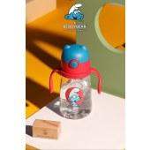 新易达文具-韩国杯具熊儿童学饮杯吸管杯蓝精灵联名水杯幼儿园防呛夏季水壶