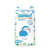 妮飘Nepia Genki!哆啦A梦纸尿裤M64片(6-11kg)尿不湿中码婴儿纸尿裤日本进口轻薄透气
